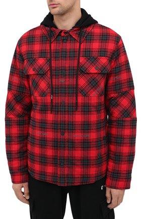 Мужская куртка OFF-WHITE красного цвета, арт. 0MEA236E20FAB0012500   Фото 3