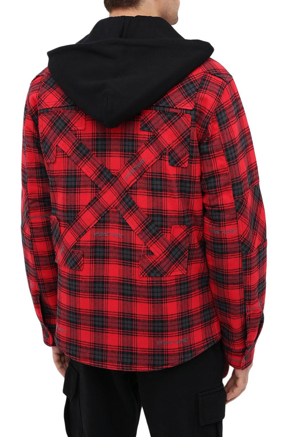 Мужская куртка OFF-WHITE красного цвета, арт. 0MEA236E20FAB0012500   Фото 4