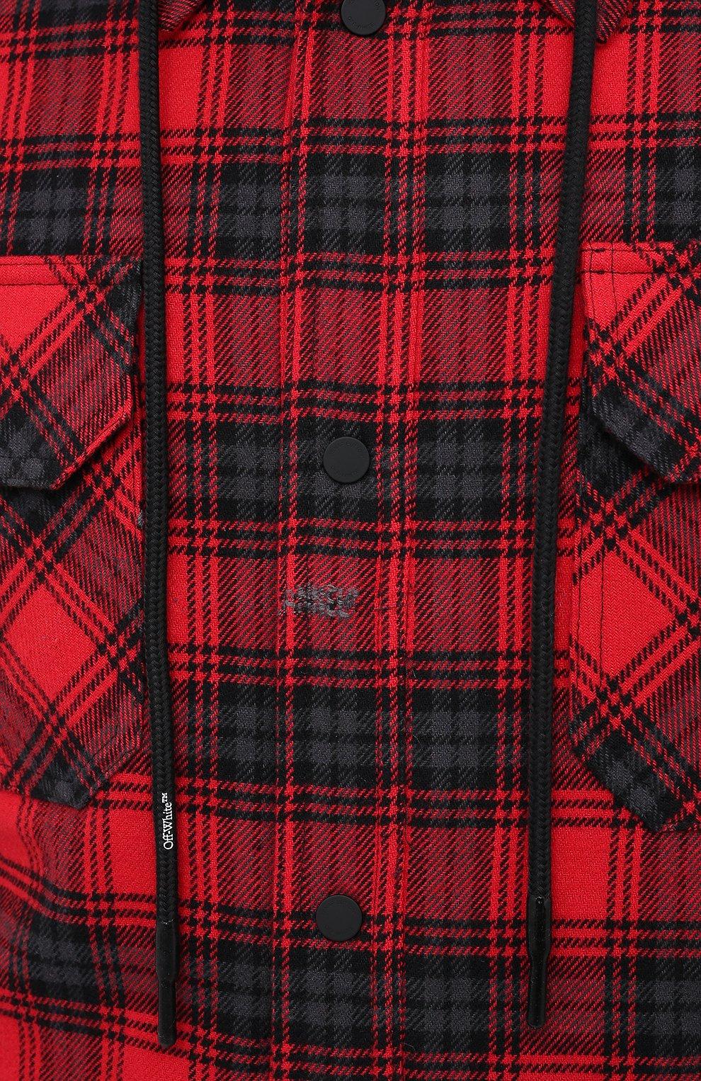 Мужская куртка OFF-WHITE красного цвета, арт. 0MEA236E20FAB0012500   Фото 5