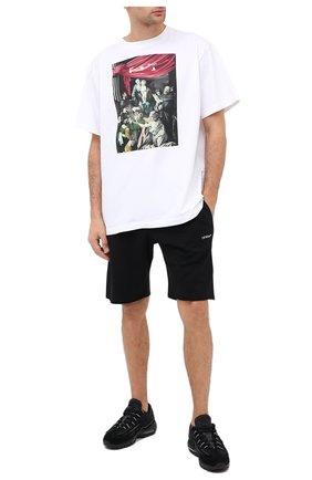 Мужские хлопковые шорты OFF-WHITE черного цвета, арт. 0MCI006E20FLE0011001 | Фото 2