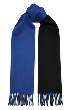 Мужской кашемировый шарф JOHNSTONS OF ELGIN черного цвета, арт. WA000020 | Фото 1
