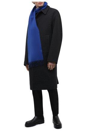 Мужской кашемировый шарф JOHNSTONS OF ELGIN черного цвета, арт. WA000020 | Фото 2
