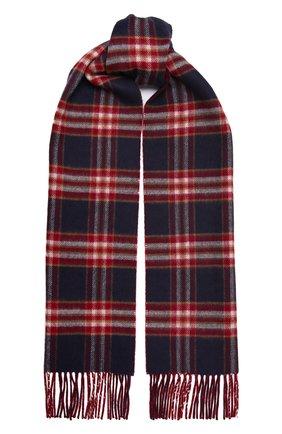 Мужской кашемировый шарф JOHNSTONS OF ELGIN бордового цвета, арт. WA000020 | Фото 1