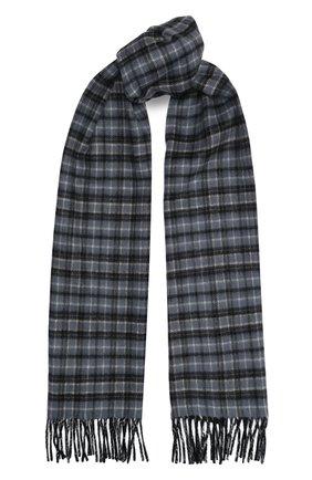 Мужской кашемировый шарф JOHNSTONS OF ELGIN серого цвета, арт. WA000020 | Фото 1