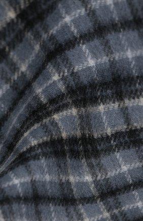 Мужской кашемировый шарф JOHNSTONS OF ELGIN серого цвета, арт. WA000020 | Фото 2