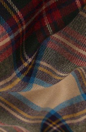 Мужской шерстяной шарф JOHNSTONS OF ELGIN бежевого цвета, арт. WD000446 | Фото 2