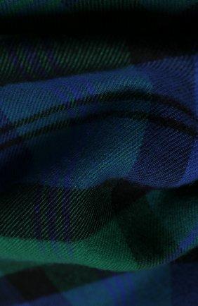 Мужской шерстяной шарф JOHNSTONS OF ELGIN зеленого цвета, арт. WD000446 | Фото 2
