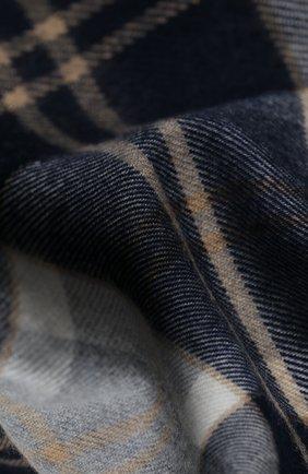 Мужской шерстяной шарф JOHNSTONS OF ELGIN серого цвета, арт. WD000446 | Фото 2