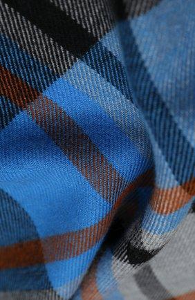 Мужской шерстяной шарф JOHNSTONS OF ELGIN синего цвета, арт. WD000446   Фото 2