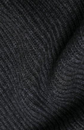 Мужской кашемировый шарф JOHNSTONS OF ELGIN темно-серого цвета, арт. HAA01684 | Фото 2