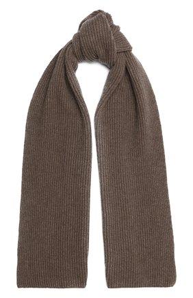 Мужской кашемировый шарф JOHNSTONS OF ELGIN темно-бежевого цвета, арт. HAA01684 | Фото 1