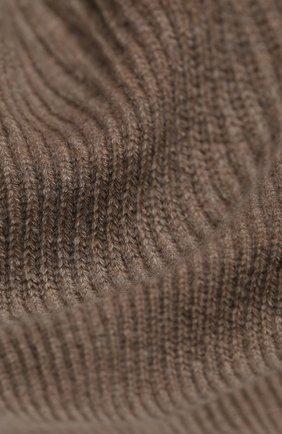 Мужской кашемировый шарф JOHNSTONS OF ELGIN темно-бежевого цвета, арт. HAA01684 | Фото 2