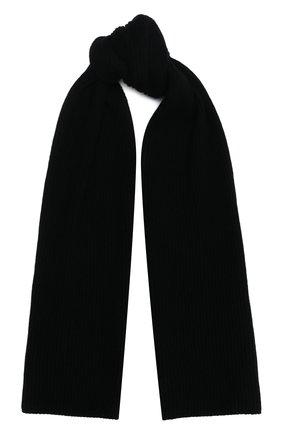 Мужской кашемировый шарф JOHNSTONS OF ELGIN черного цвета, арт. HAA01684 | Фото 1