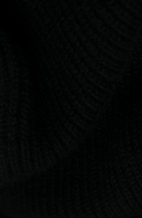 Мужской кашемировый шарф JOHNSTONS OF ELGIN черного цвета, арт. HAA01684 | Фото 2
