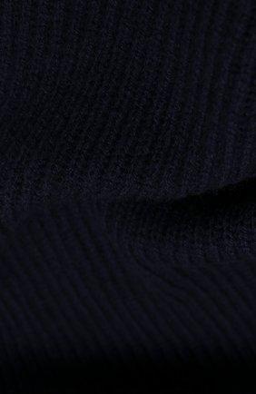 Мужской кашемировый шарф JOHNSTONS OF ELGIN темно-синего цвета, арт. HAA01684 | Фото 2 (Материал: Шерсть, Кашемир; Кросс-КТ: кашемир)