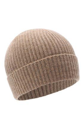 Мужская кашемировая шапка JOHNSTONS OF ELGIN темно-бежевого цвета, арт. HAE01941 | Фото 1