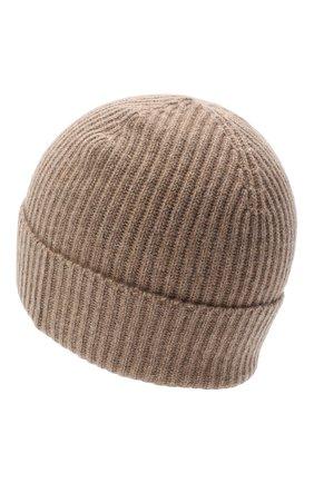 Мужская кашемировая шапка JOHNSTONS OF ELGIN темно-бежевого цвета, арт. HAE01941 | Фото 2