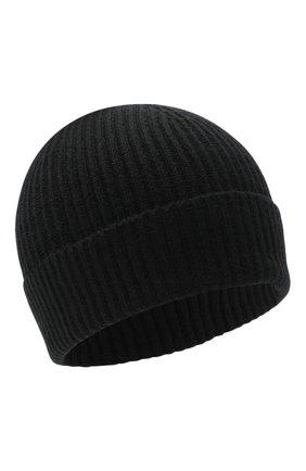 Мужская кашемировая шапка JOHNSTONS OF ELGIN черного цвета, арт. HAE01941 | Фото 1