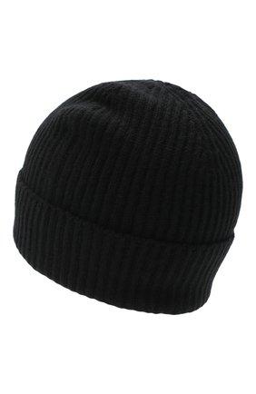 Мужская кашемировая шапка JOHNSTONS OF ELGIN черного цвета, арт. HAE01941 | Фото 2 (Материал: Шерсть, Кашемир; Кросс-КТ: Трикотаж)