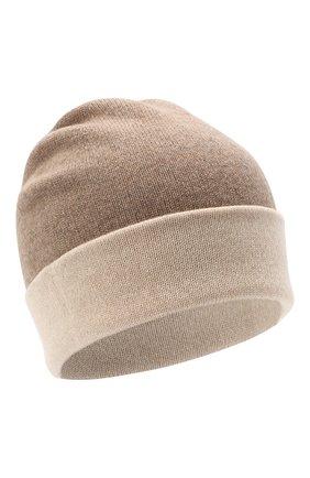 Мужская кашемировая шапка JOHNSTONS OF ELGIN бежевого цвета, арт. HAE01954 | Фото 1
