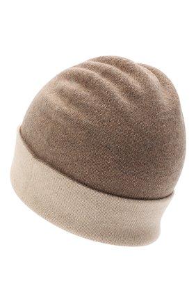 Мужская кашемировая шапка JOHNSTONS OF ELGIN бежевого цвета, арт. HAE01954 | Фото 2