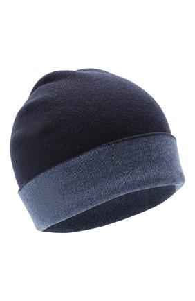Мужская кашемировая шапка JOHNSTONS OF ELGIN синего цвета, арт. HAE01954   Фото 1