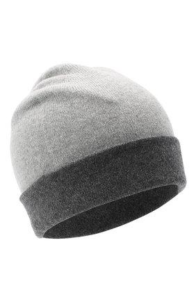 Мужская кашемировая шапка JOHNSTONS OF ELGIN серого цвета, арт. HAE01954 | Фото 1
