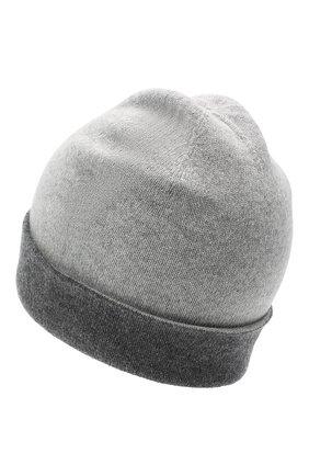Мужская кашемировая шапка JOHNSTONS OF ELGIN серого цвета, арт. HAE01954 | Фото 2