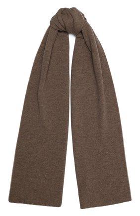 Мужской кашемировый шарф JOHNSTONS OF ELGIN темно-бежевого цвета, арт. HAE02197 | Фото 1