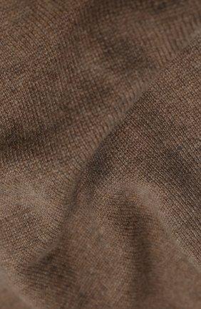Мужской кашемировый шарф JOHNSTONS OF ELGIN темно-бежевого цвета, арт. HAE02197 | Фото 2