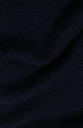 Мужской кашемировый шарф JOHNSTONS OF ELGIN темно-синего цвета, арт. HAE02197 | Фото 2