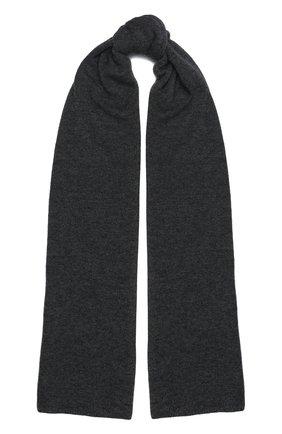 Мужской кашемировый шарф JOHNSTONS OF ELGIN темно-серого цвета, арт. HAE02197 | Фото 1