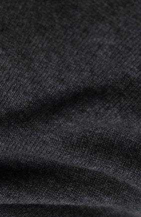 Мужской кашемировый шарф JOHNSTONS OF ELGIN темно-серого цвета, арт. HAE02197 | Фото 2