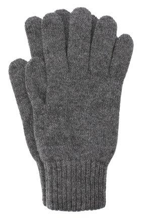 Мужские кашемировые перчатки JOHNSTONS OF ELGIN темно-серого цвета, арт. HAY01001 | Фото 1