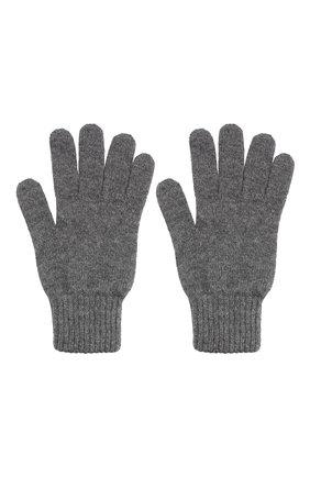 Мужские кашемировые перчатки JOHNSTONS OF ELGIN темно-серого цвета, арт. HAY01001 | Фото 2