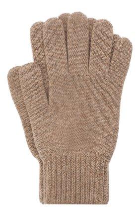 Мужские кашемировые перчатки JOHNSTONS OF ELGIN темно-бежевого цвета, арт. HAY01001 | Фото 1