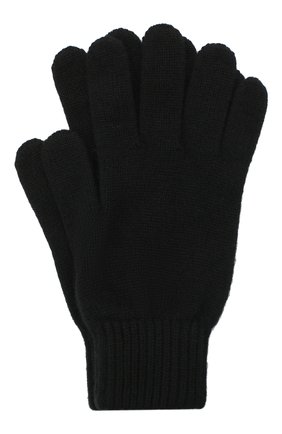 Мужские кашемировые перчатки JOHNSTONS OF ELGIN черного цвета, арт. HAY01001 | Фото 1