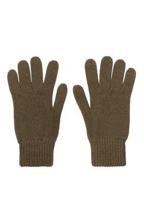 Мужские кашемировые перчатки JOHNSTONS OF ELGIN хаки цвета, арт. HAY01001   Фото 2