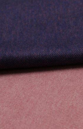 Мужской кашемировый шарф JOHNSTONS OF ELGIN фиолетового цвета, арт. WA000057 | Фото 2