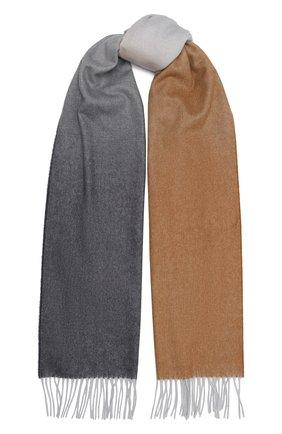 Мужской кашемировый шарф JOHNSTONS OF ELGIN бежевого цвета, арт. WA000057 | Фото 1