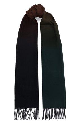 Мужской кашемировый шарф JOHNSTONS OF ELGIN темно-зеленого цвета, арт. WA000057 | Фото 1