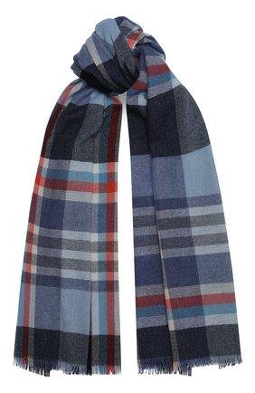 Мужской кашемировый шарф JOHNSTONS OF ELGIN синего цвета, арт. WA001174   Фото 1