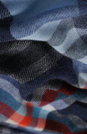 Мужской кашемировый шарф JOHNSTONS OF ELGIN синего цвета, арт. WA001174   Фото 2