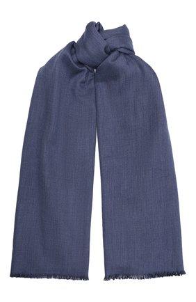 Мужской кашемировый шарф JOHNSTONS OF ELGIN синего цвета, арт. WA001255 | Фото 1