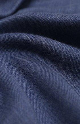Мужской кашемировый шарф JOHNSTONS OF ELGIN синего цвета, арт. WA001255 | Фото 2