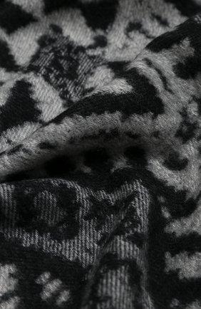 Мужской шарф из кашемира и шерсти JOHNSTONS OF ELGIN черно-белого цвета, арт. WB001518   Фото 2