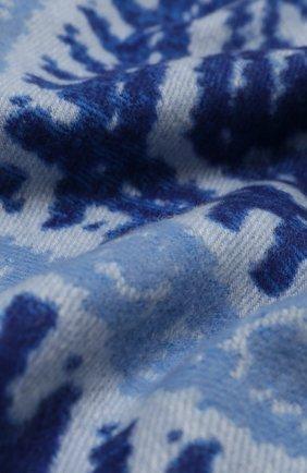 Мужской шарф из кашемира и шерсти JOHNSTONS OF ELGIN синего цвета, арт. WB001518 | Фото 2