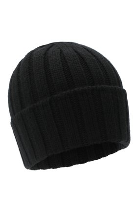 Мужская кашемировая шапка JOHNSTONS OF ELGIN черного цвета, арт. HAC02657 | Фото 1 (Материал: Шерсть, Кашемир; Кросс-КТ: Трикотаж)