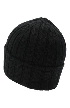 Мужская кашемировая шапка JOHNSTONS OF ELGIN черного цвета, арт. HAC02657 | Фото 2 (Материал: Шерсть, Кашемир; Кросс-КТ: Трикотаж)
