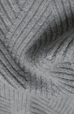 Мужской кашемировый шарф JOHNSTONS OF ELGIN серого цвета, арт. HAC02836 | Фото 2